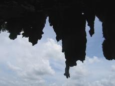 A frozen waterfall - limestone formations